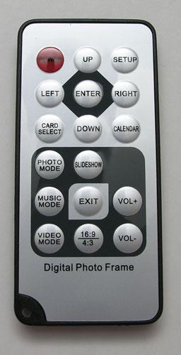 Digital photo frame remote control