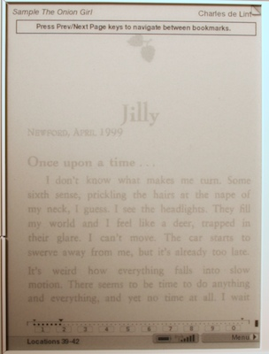 kindle position bar
