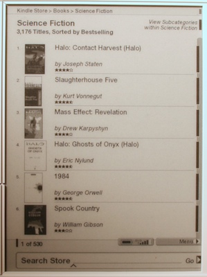 kindle store book list