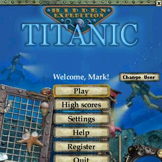 Titanic Opening Screen