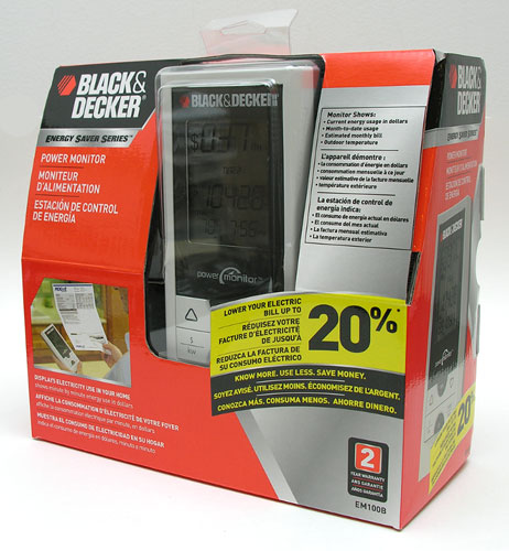 Black & Decker Power Monitor box