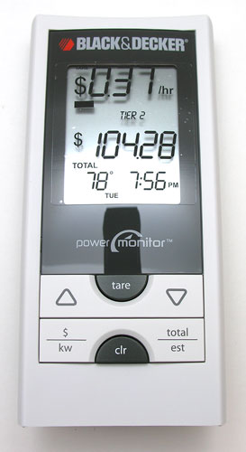 Black & Decker Power Monitor digital display