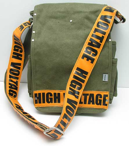 d0a7fa5807f The High Voltage Messenger Bag isn t made of duct tape though, it s a  multi-pocketed canvas bag with an urban style.