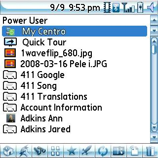 Power User Screen