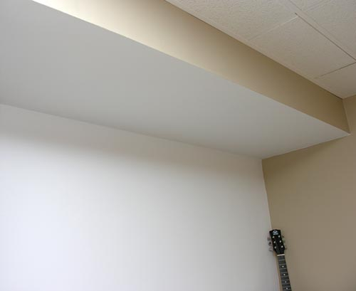 However Once The Room Was Completed I Decided That It Better To Paint Area Including Ceiling Section In A Flat White