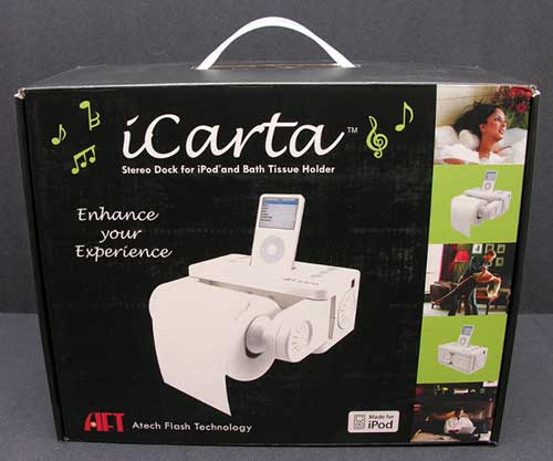 Icarta Stereo Dock For Ipod With Bath Tissue Holder The Gadgeteer - Icarta-ipod-dock-and-toilet-roll-dispenser