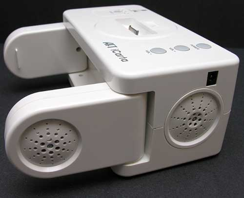 Icarta Stereo Dock For Ipod With Bath Tissue Holder The