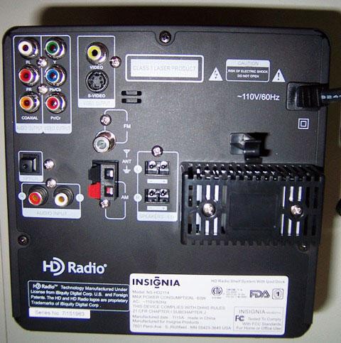 Insignia Ns Hd2114 Dvd Cd Hd Radio Compact Shelf System