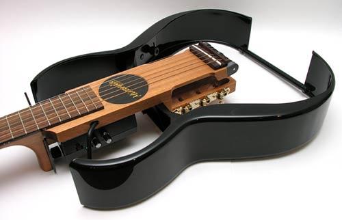 miranda s 250 travel guitar the gadgeteer. Black Bedroom Furniture Sets. Home Design Ideas