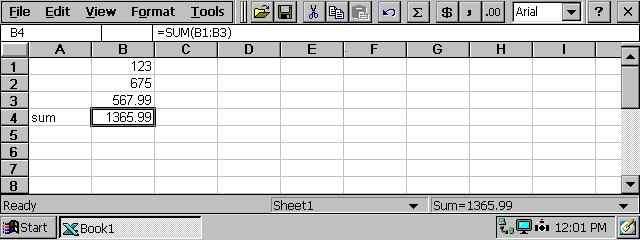 Pocket Excel, 33 KB