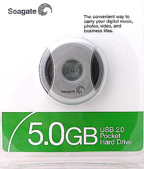 seagate 5gb pocket hard drive30
