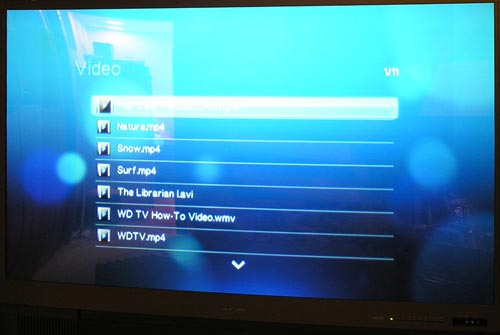 WD TV HD Media Player Video list