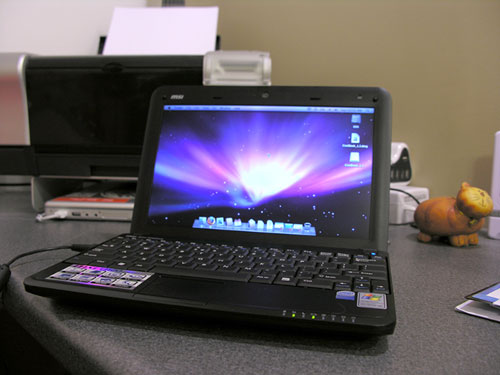 My MSI Wind netbook is now running OSX - The Gadgeteer