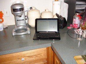 Mini 1000XP in the kitchen