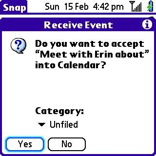 Note #1: Intermeidate screen going to Calendar