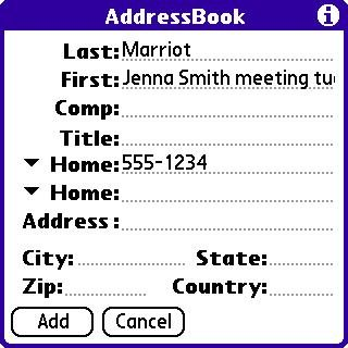 Note #2: Intermediate screen for Contacts- not as good on the name.