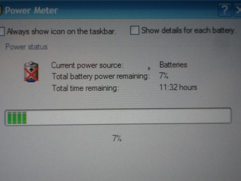 Screen shot of the Fuji's power meter with the myPower