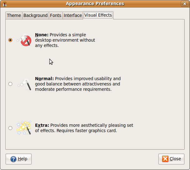 Ubuntu Appearance Preferences