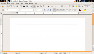 OpenOffice Writer on Ubuntu Netbook Remix