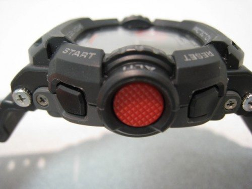 "Note how the glass face is recessed around the G-Shock's trademark ""armor""."