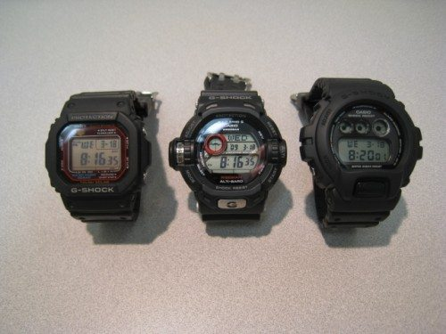 Family portrait! (Left to right): Casio 5600 series, Riseman, Casio 6900 series.