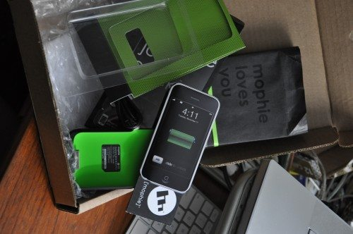 Full packaging for Mophie Juice Box.