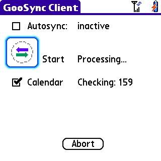 Main Screen- during a sync