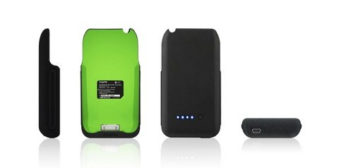 The interior and exterior of the Mophie Juice Pack can be had in any color scheme you want - provided you want flat black with day-glo green inside!