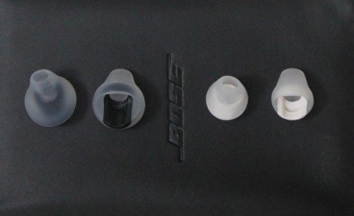 closeup of ear-bud adapters