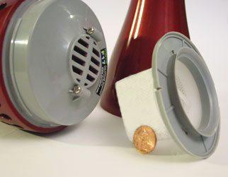 Main unit reveals a tiny filter bag