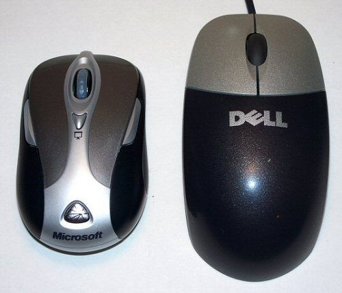 comparison with standard Dell mouse