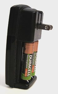 A recharger that is compact and unobtrusive