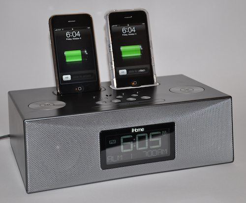 ihome clock radio ihome ip88 dual dock clock radio review the gadgeteer 12010