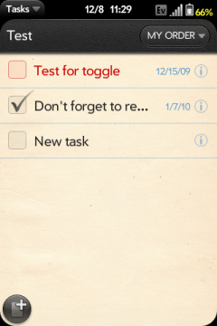 Tasks webOS