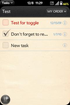 Tasks webOS