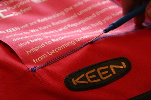 Keen Bag 4 Removing Stitching