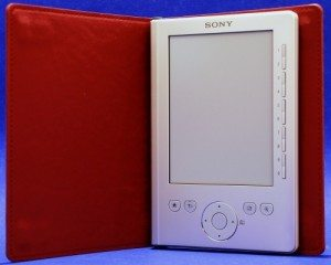 Sony Pocket Edition reader in optional premium case
