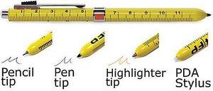 four function ruler pen