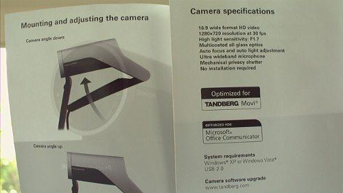 Tandberg PrecisionHD USB Video Camera Review – The Gadgeteer