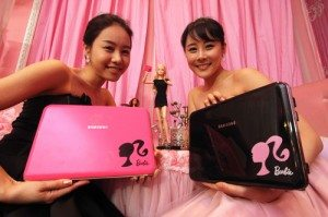 Barbie Samsung X170 laptop.  Photo courtesy of Tech Tickler