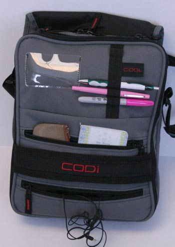 CODi Dispatch Vertical Laptop Bag inside flap