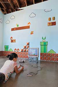 Perfect Blik us line of peel and stick wall decals will let you relive your favorite retro video games in life size detail They have self adhesive and removable