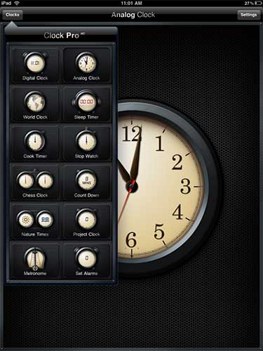 Clock Pro HD iPad App Review – The Gadgeteer