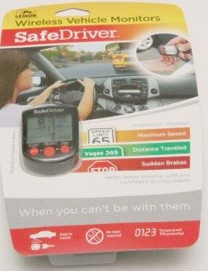 The new Safe Driver by Lemur Monitors.  This device monitors and reports distance traveled, average speed and records hard braking.