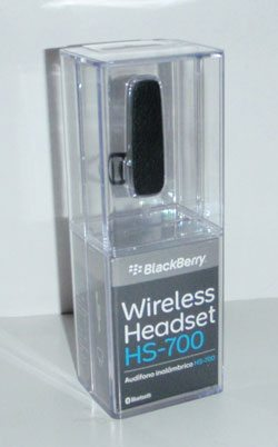 Blackberry Hs 700 Bluetooth Headset Review The Gadgeteer