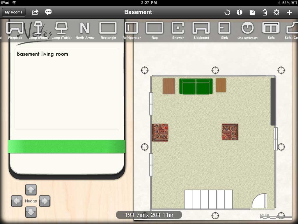 Ios app spotlight livingroom and sketchbook pro the for Rearrange my living room app