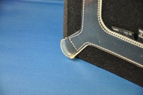 Corner detail of clip