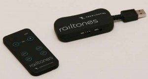Railtones remote control and computer dongle