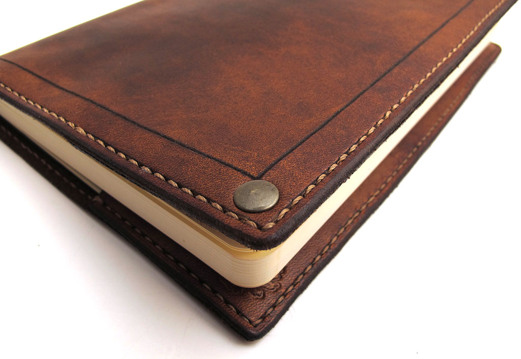 How To Make A Book Cover Leather ~ Inkleaf leather co moleskine cover review the gadgeteer