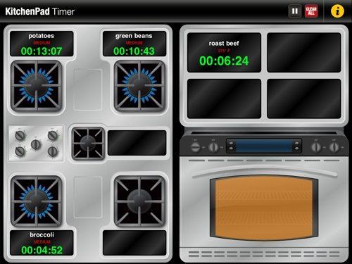 kitchenpad timer ipad app